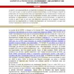 thumbnail of Note de synthèse – Sport et environnement – Think tank Sport et Citoyenneté