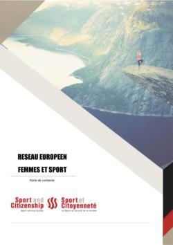 thumbnail of Femmes et Sport – Note de synthèse_FR