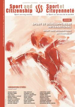 thumbnail of Couverture revue n°13 déc. 2010 – think tank Sport et Citoyenneté
