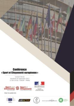thumbnail of Actes Conférence Sport et Citoyenneté européenne