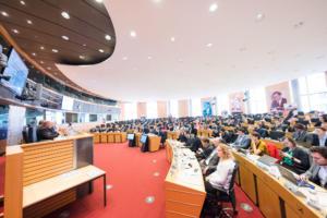 Salle de conférence au Parlement Européen