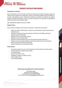 thumbnail of Fiche de poste_Relations Presse