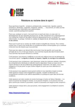 thumbnail of Appel_Stop Racism in Sport_FR