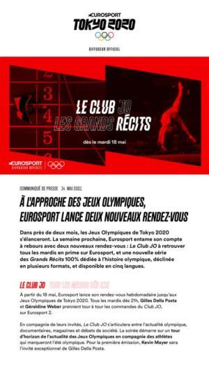 thumbnail of EUROSPORT – LE CLUB JO & LES GRANDS RECITS
